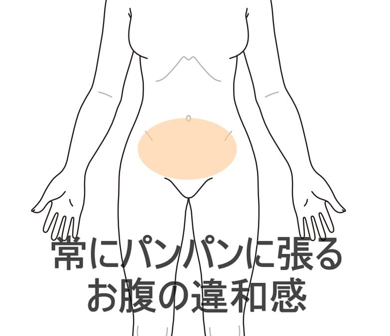 腹部 違和感 下