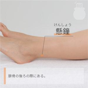 懸鐘(けんしょう)|足の少陽胆経|GB39 Xuanzhong