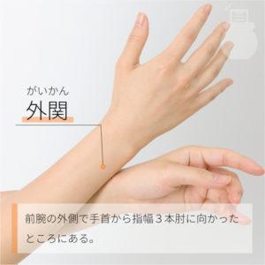 外関(がいかん)|手の少陽三焦経|TE5 Waiguan