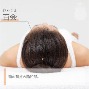 百会(ひゃくえ)|督脈|GV20 Baihui