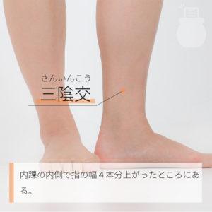 三陰交(さんいんこう)|足の太陰脾経|SP6 Sanyinjiao
