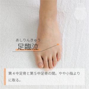足臨泣(あしりんきゅう)|足の少陽胆経|GB41 Zulinqi