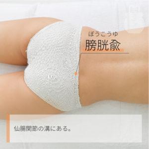 膀胱兪(ぼうこうゆ)|足の太陽膀胱経|BL28 Pangguangshu