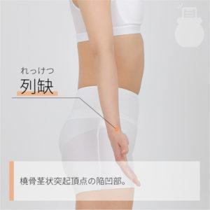 列缺(れっけつ)|手の太陰肺経|LU7 Lieque