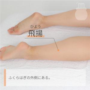 飛揚(ひよう)|足の太陽膀胱経|BL58