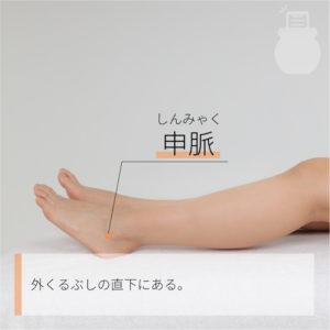 申脈(しんみゃく)|足の太陽膀胱経|BL62 Shenmai