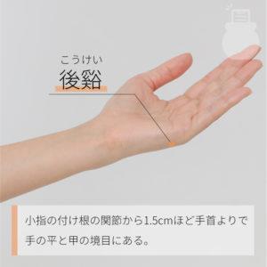 後谿(こうけい)|手の太陽小腸経|SI3 Houxi