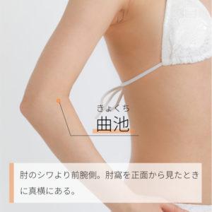 曲池(きょくち)|手の陽明大腸経|LI11 Quchi