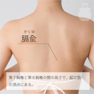 膈兪(かくゆ)|足の太陽膀胱経
