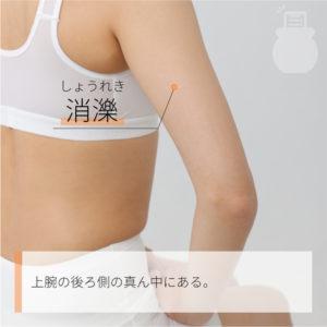 消濼(しょうれき)|手の少陽三焦経|TE12 Xiaoluo