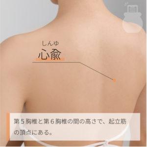 心兪(しんゆ) 足の太陽膀胱経 BL15 Xinshu