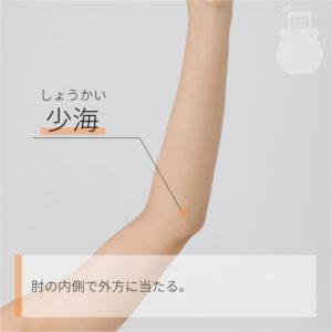 少海(しょうかい)|手の少陰心経|HT3 Shaohai